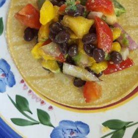 Mango & Black Bean Tacos
