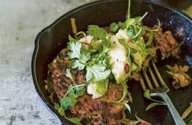 Sweet Potato Cakes recipe with Lime and Avocado and